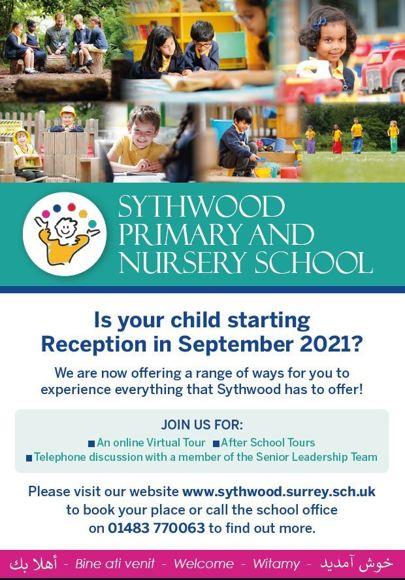 Sythwood new starter leaflet sept 2021