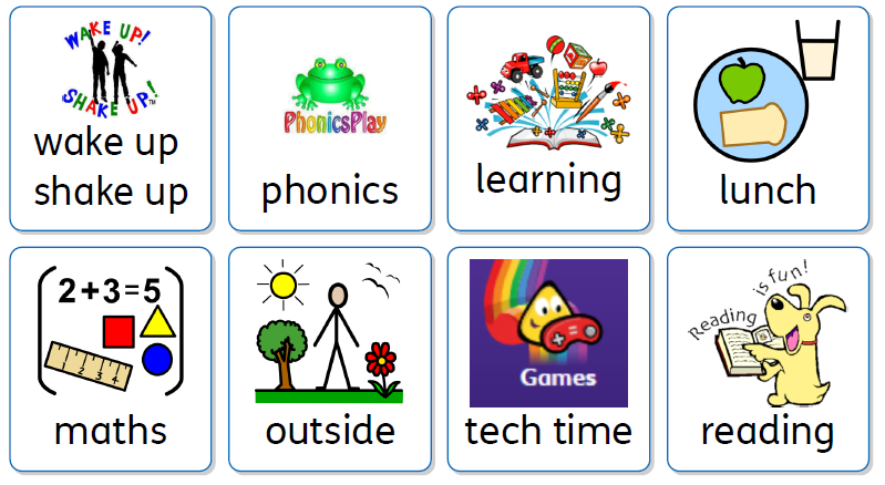 Reception home learning timetable